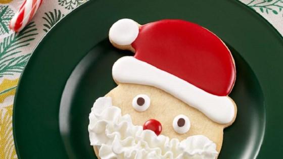 Photo of Santa Sugar Cookies by Pam Cooking Spray