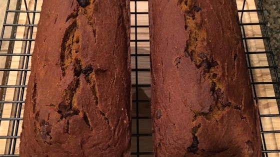 Photo of Holiday Chocolate Chip Pumpkin Bread by mwilton