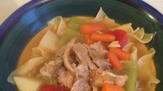 Hearty Turkey Soup with Parsley Dumplings