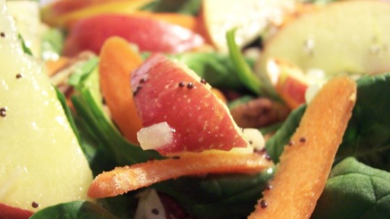 Photo of Apple, Pecan, Cranberry, and Avocado Spinach Salad with Balsamic Dressing by teenbeauty