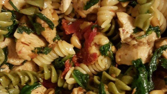 Photo of Spinach and Sun-Dried Tomato Pasta by MADBALL