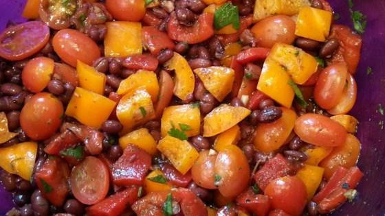 Sweet Pepper Balsamic Bean Salad