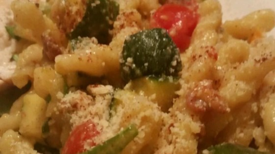 "Summer Vegetable Cavatelli with Fresh Corn ""Cream"""