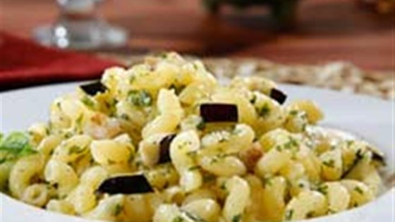 Photo of Gluten Free Elbows Pasta Salad with Pesto and Eggplant by Barilla