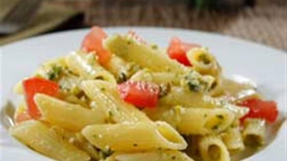 Photo of Gluten Free Penne with Pistachio Pesto and Heirloom Tomato Salad by Barilla