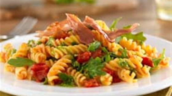 Photo of Gluten Free Rotini with Crispy Prosciutto, Pesto & Arugula by Barilla