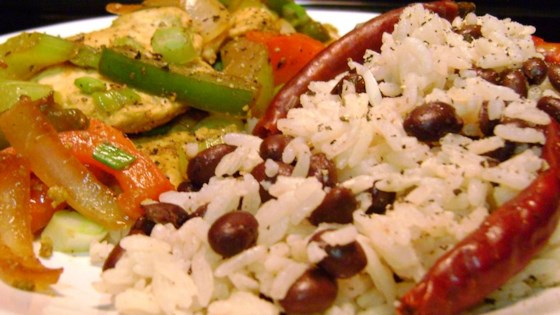 Photo of Coconut Rice with Black Beans by Kim