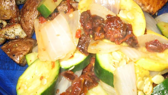 Photo of Steamed Squash Medley with Sun-Dried Tomatoes by Kate Holmgreen