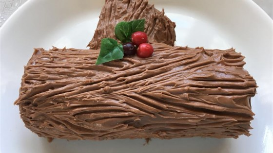 Christmas Yule Log Cake.Chocolate Decadence Yule Log Recipe Allrecipes Com