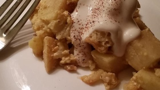 Eggnog and Apple Bread Pudding