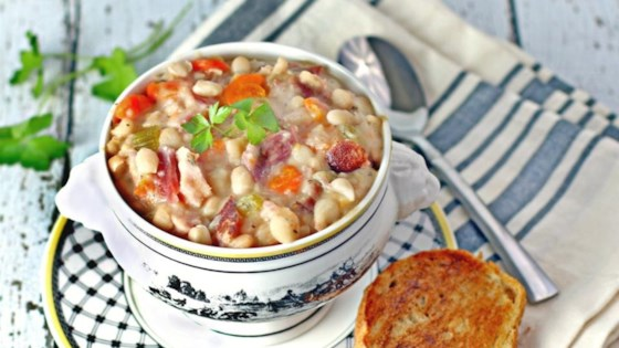 Photo of Navy Bean and Ham Hock Soup  by Culinary Envy