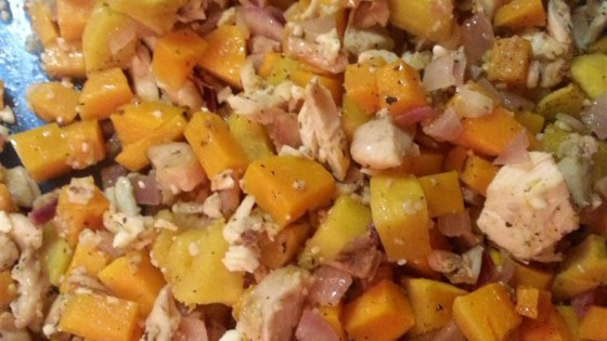 Photo of Garlic-Feta Roasted Butternut Squash with Chicken by Khaos WolfKat