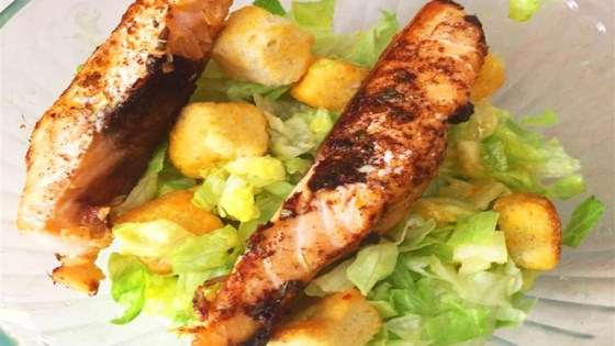 Photo of Oven-Roasted Italian Salmon with Caesar Salad by Csilla Brimer