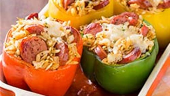 Photo of Smoked Sausage and Orzo Stuffed Peppers by Hillshire Farm® Brand