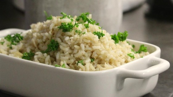 Photo of No-Fuss Perfect Baked Brown Rice by MATHGOD