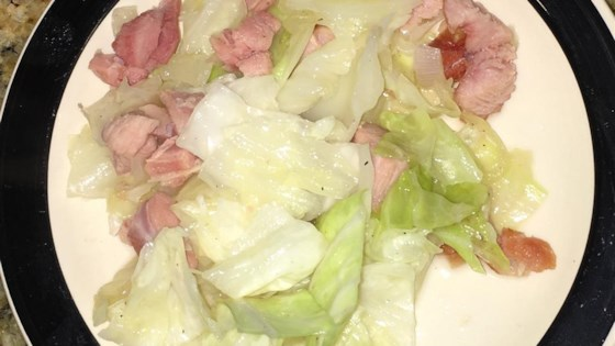 Fried Cabbage with Turkey