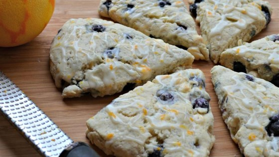 Photo of Blueberry Orange Scones with White Chocolate Chunks by Sarah Bowdidge