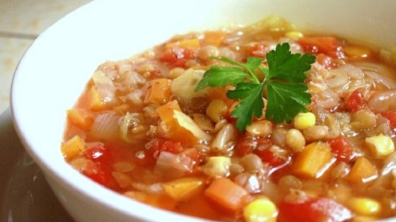 Photo of Winter Lentil Vegetable Soup by Cecile Leverman