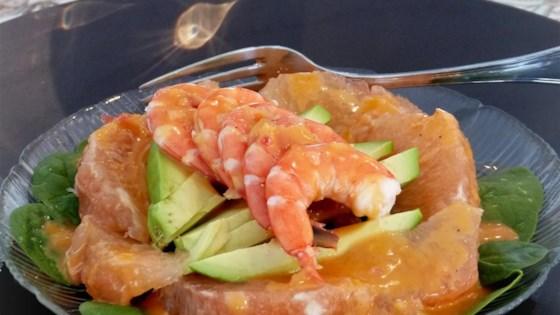 Photo of Shrimp, Avocado, and Grapefruit Salad by Be Curious Cuisine