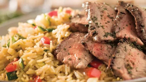 Photo of Grilled Steak & Summer Vegetable Rice by Knorr®