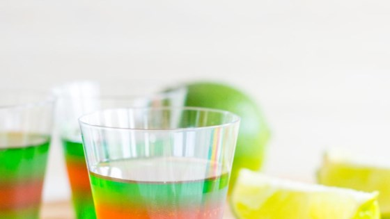 Photo of Layered Margarita Jell-O® Shots by gnomeygoose