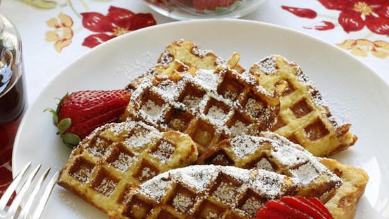 Photo of Easy French Toast Waffles by foodelicious
