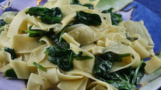 Photo of Egg Noodles with Spinach by Judy in Delaware