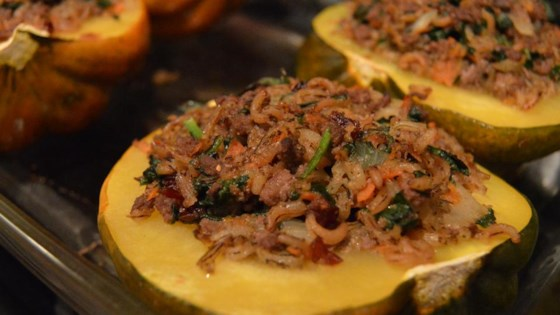 Photo of Venison and Wild Rice Stuffed Acorn Squash by Aaron