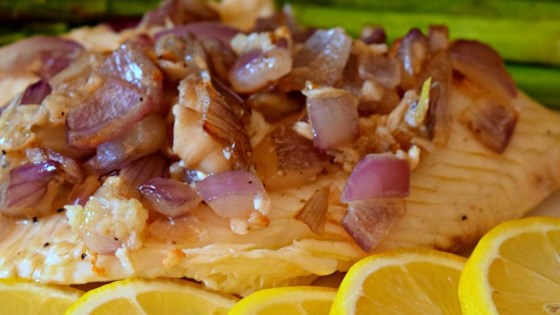 Photo of Pan-Grilled Tilapia with Lemon and Red Onion by Terri-Lynn Howell-Schlaiss