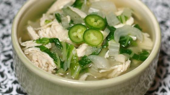 Chicken Bok Choy Soup