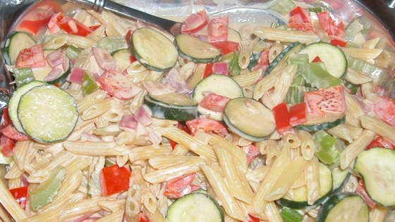 Photo of Pasta With Veggies In a Tahini and Yogurt Sauce by Nick