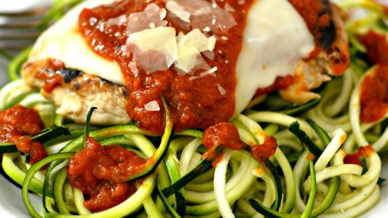 Chicken Parmesan with Zucchini Pasta