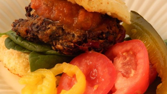 Photo of Kidney Bean and Black Thai Rice Burgers by Spiderwoman77