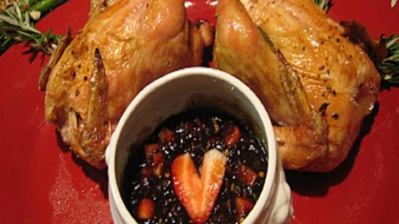 Photo of Cornish Hens with Strawberry-Balsamic Sauce by TinaJ