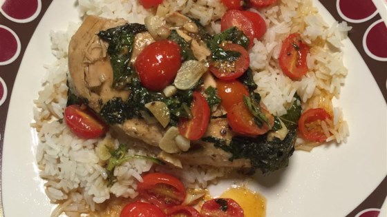 Photo of Chicken with Grape Tomatoes and Fried Basil by amanda1432