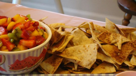 Photo of Fruit Salsa with Cinnamon Tortilla Chips by CRISSYF