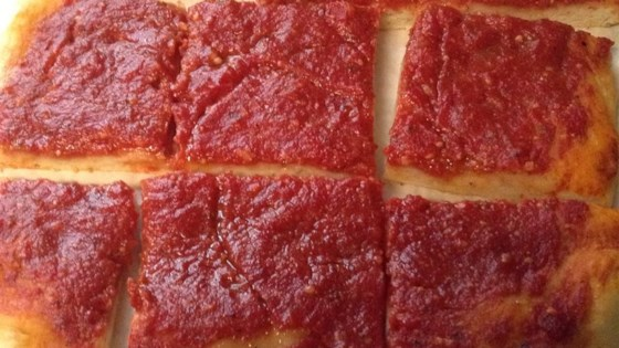 Rhode Island-Style Pizza Strips aka Bakery Pizza