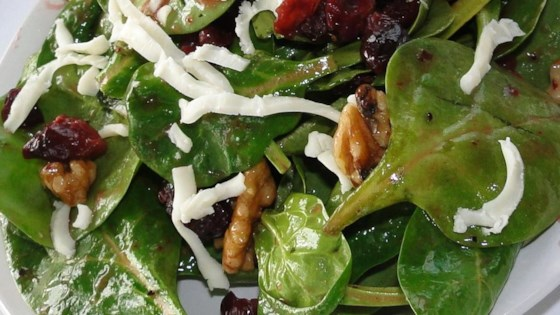 Photo of Simple Cranberry Spinach Salad by Bethanie Rose