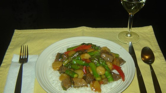 Photo of Asparagus Beef Stir-Fry by Marla  Deakins