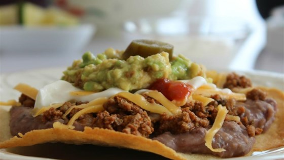 Crispy Oven Beef-and-Bean Tostadas
