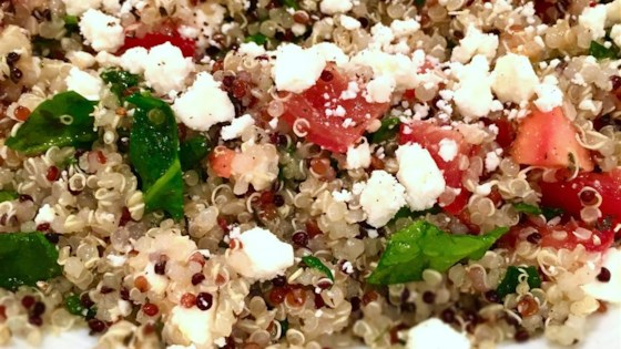 Photo of Spinach, Tomato, and Feta Quinoa Salad by suzyk