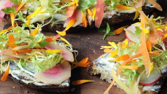 Photo of Spring Vegetable Tartine with White Anchovies by Chef John