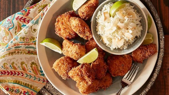Photo of Jerk Chicken Nuggets with Lime Coconut Rice by Reynolds Kitchens®