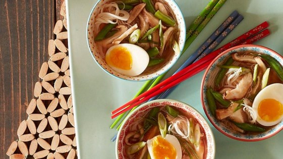 Photo of Spicy Miso Soup with Roasted Shiitake Mushrooms and Green Beans by Reynolds Kitchens®