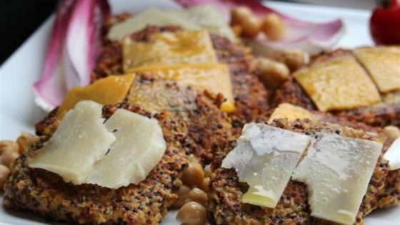 Quinoa Dijon and Swiss Burger