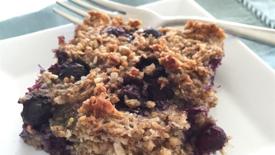Photo of Soaked Blueberry Coconut Oatmeal Bake by Jillian Chamberlain