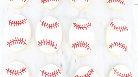 Photo of Baseball Cookies with Royal Icing by PasadenaDaisy