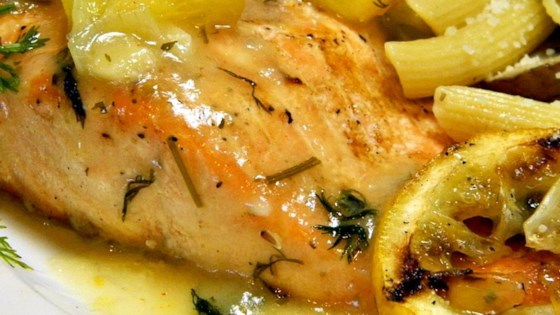 Photo of Big Ray's Lemony Grilled Salmon Fillets with Dill Sauce by bfr610