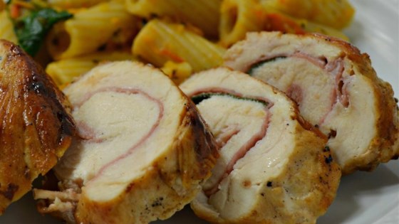 Photo of Saltimbocca di Pollo alla Romana (Prosciutto-Stuffed Chicken Breast Roulades) by Aldo