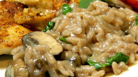 Photo of Red Wine Risotto with Mushrooms by Amanda